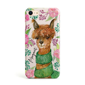 Personalised Alpaca Apple iPhone Case