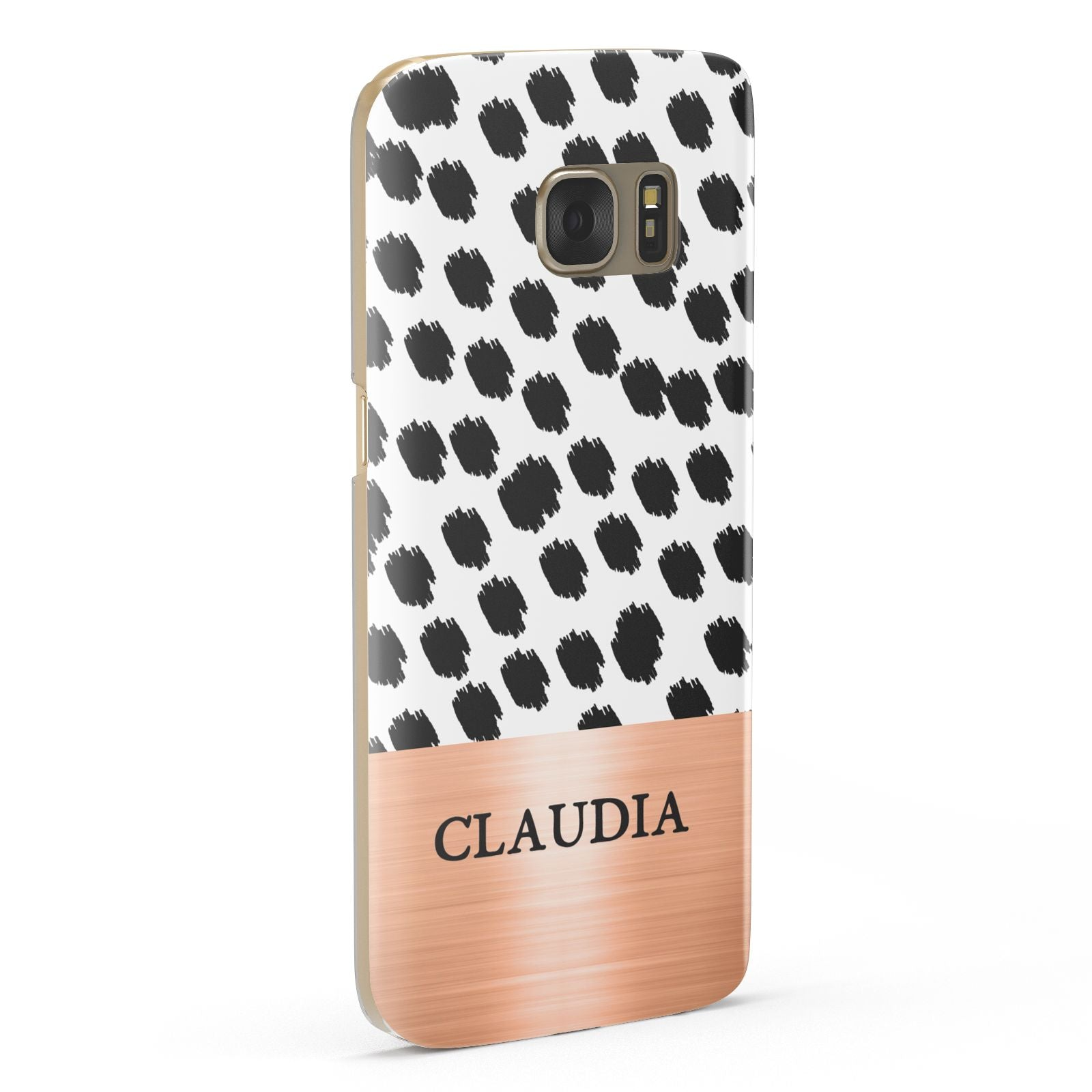 Personalised Animal Print Rose Gold Name Samsung Galaxy Case Fourty Five Degrees