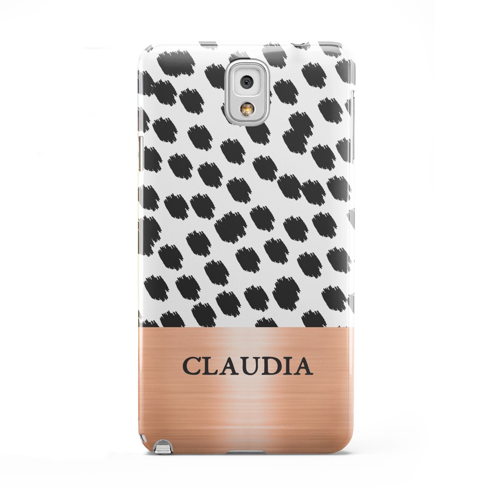 Personalised Animal Print Rose Gold Name Samsung Galaxy Note 3 Case