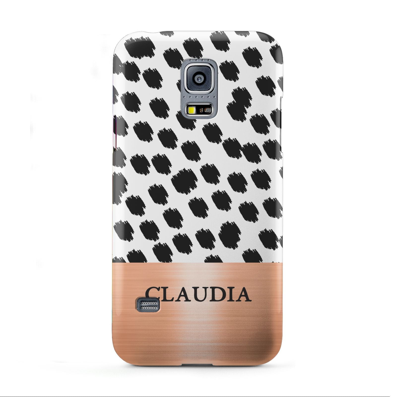 Personalised Animal Print Rose Gold Name Samsung Galaxy S5 Mini Case