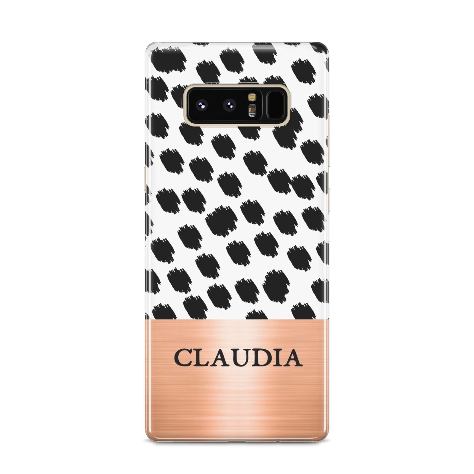 Personalised Animal Print Rose Gold Name Samsung Galaxy S8 Case