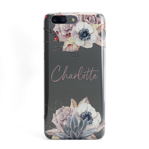 Personalised Autumn Floral OnePlus Case