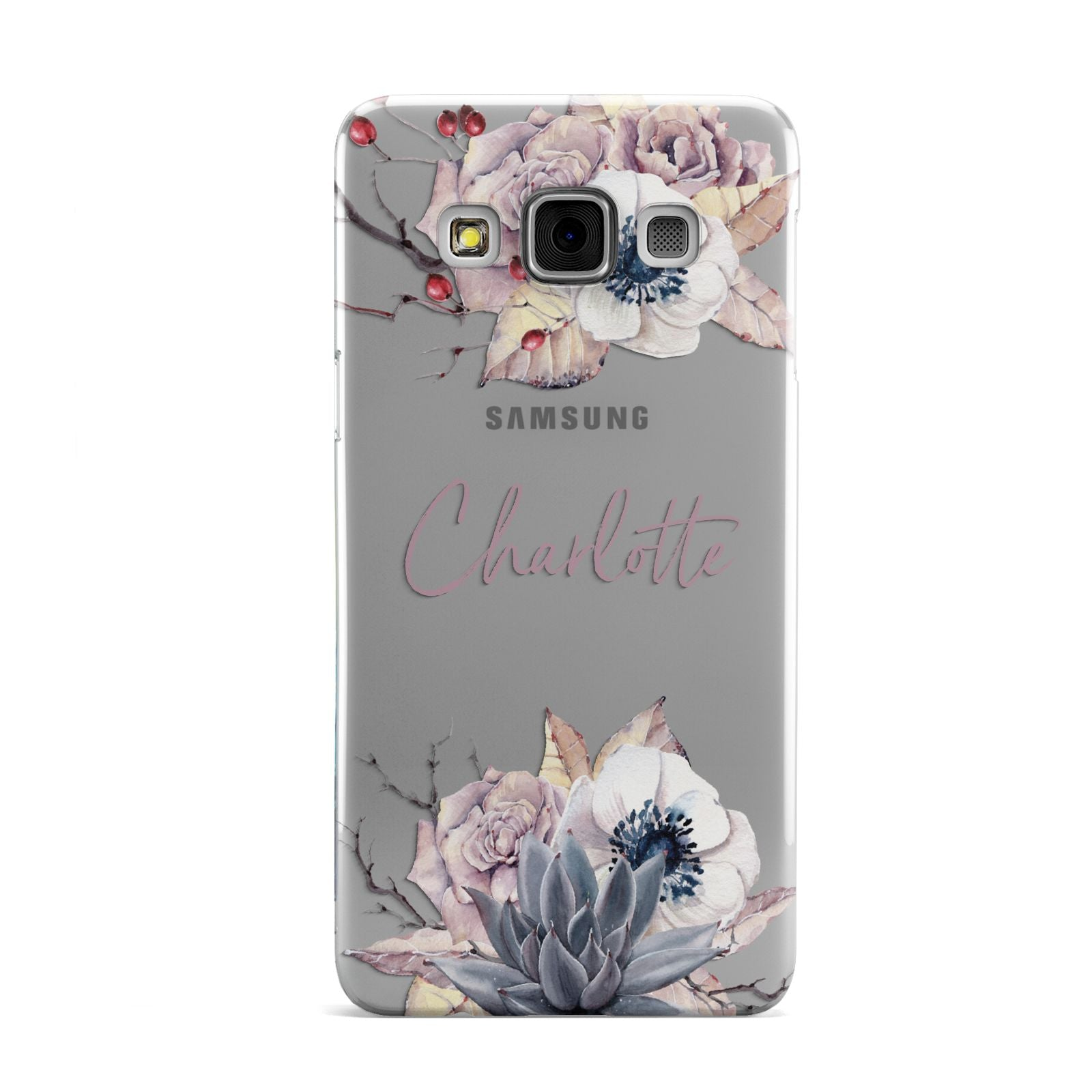 Personalised Autumn Floral Samsung Galaxy A3 Case