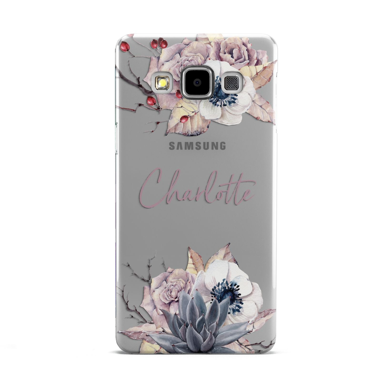 Personalised Autumn Floral Samsung Galaxy A5 Case