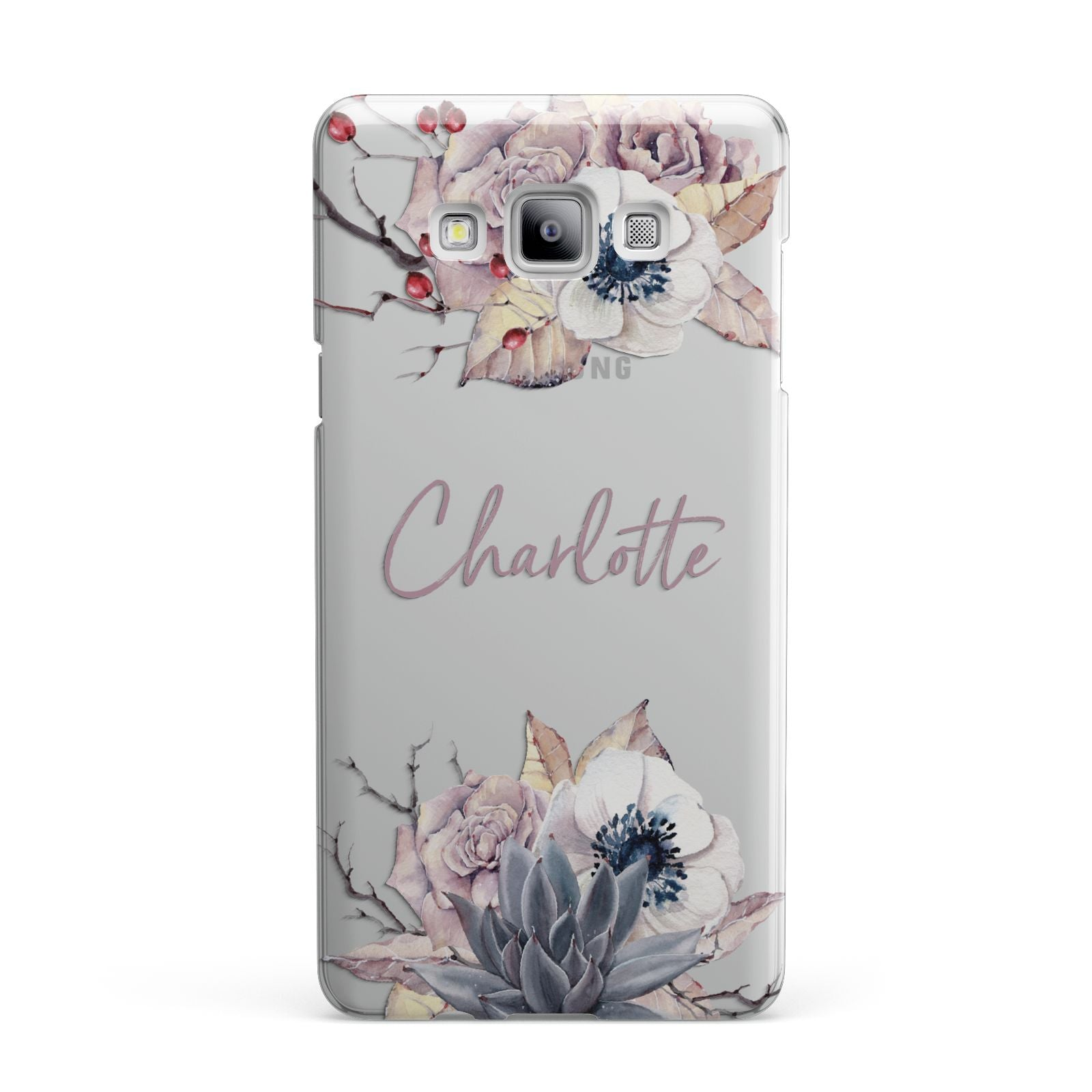 Personalised Autumn Floral Samsung Galaxy A7 2015 Case