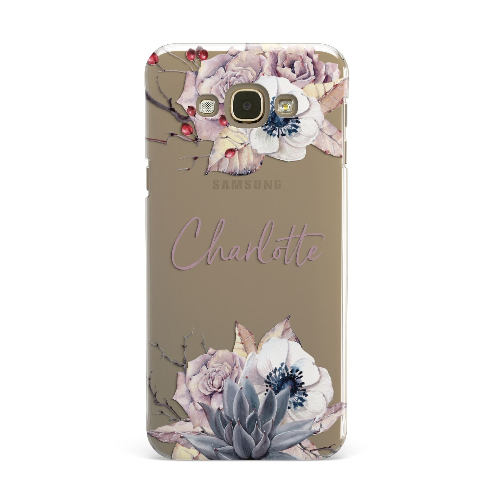 Personalised Autumn Floral Samsung Galaxy A8 Case