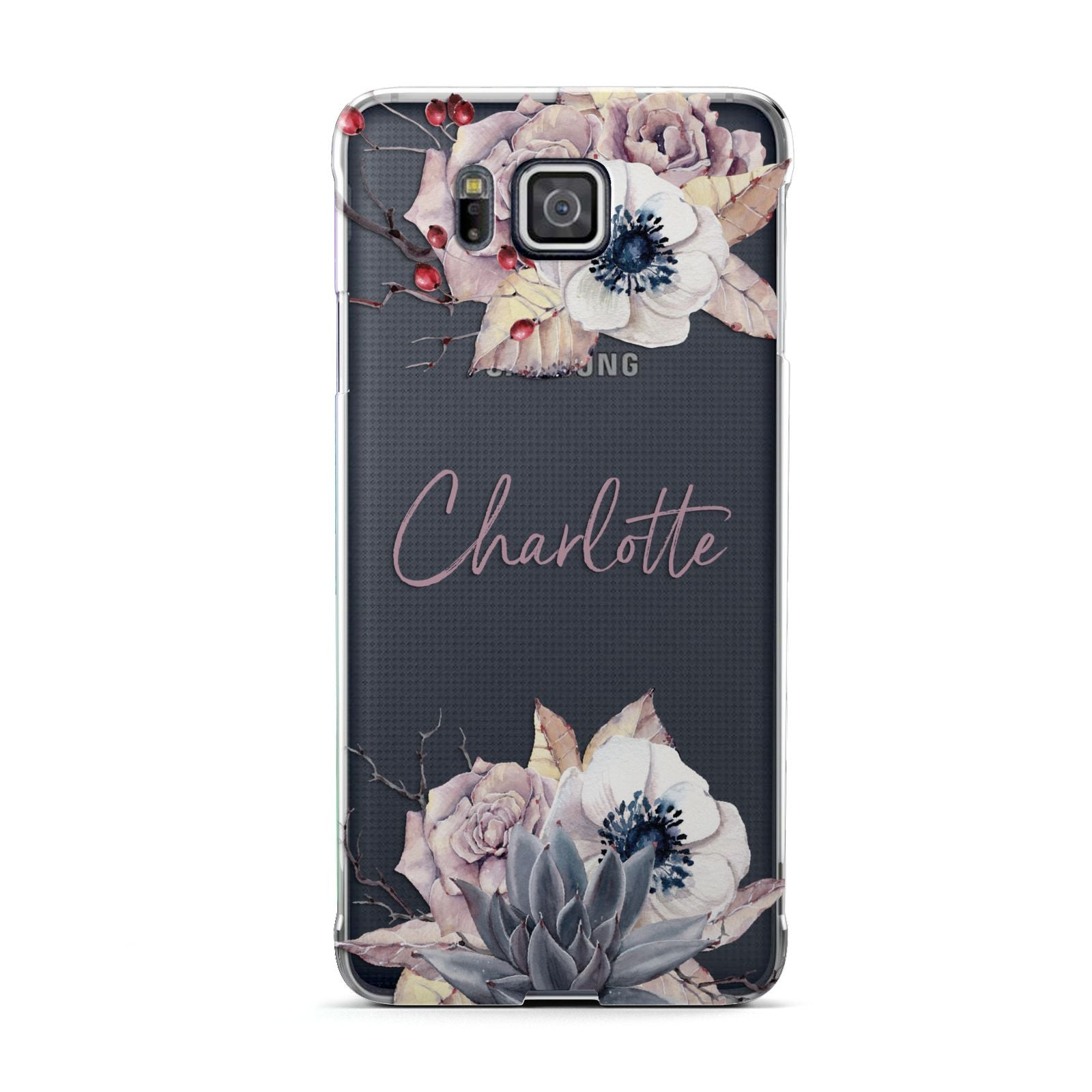 Personalised Autumn Floral Samsung Galaxy Alpha Case