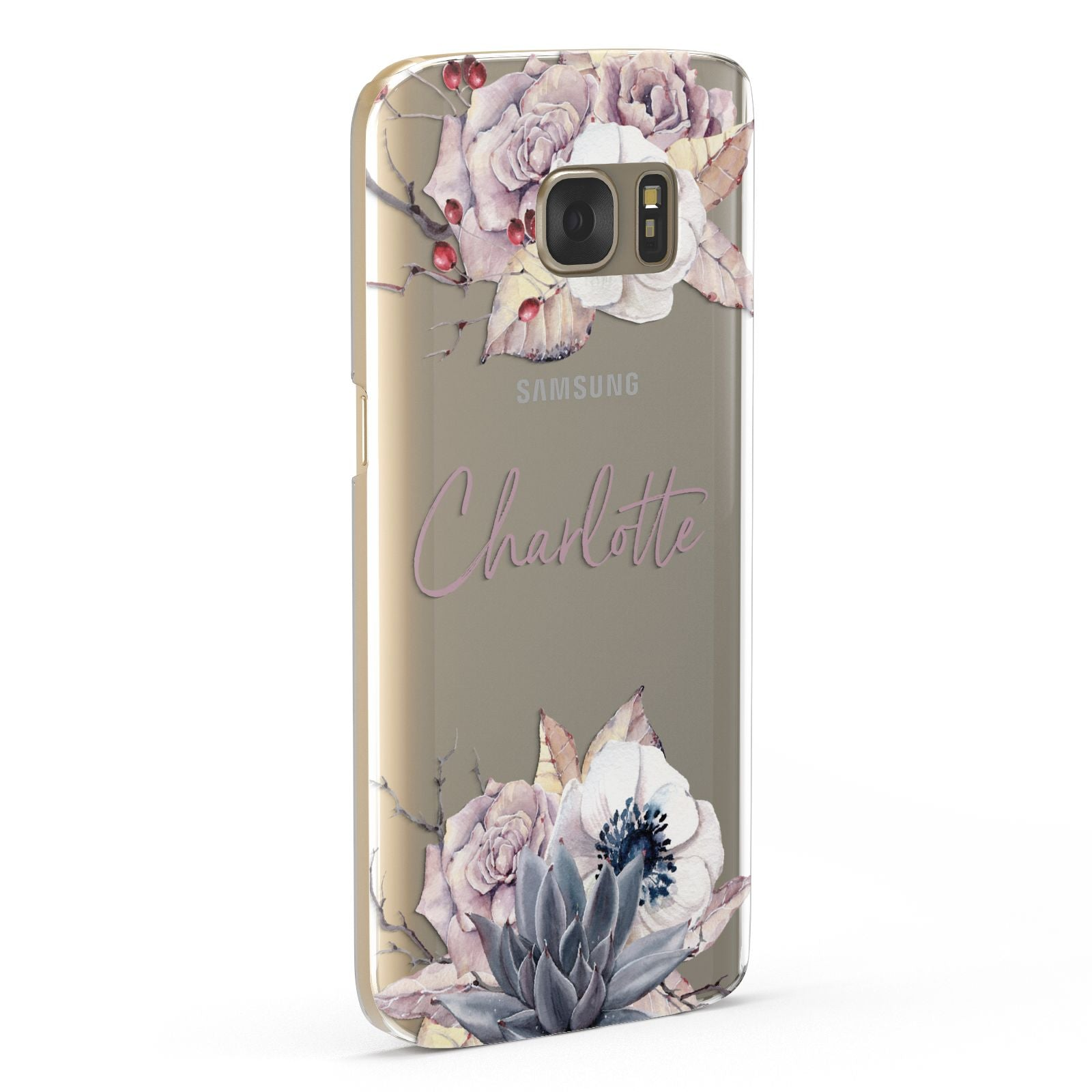 Personalised Autumn Floral Samsung Galaxy Case Fourty Five Degrees