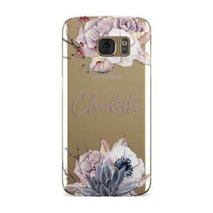 Personalised Autumn Floral Samsung Galaxy Case
