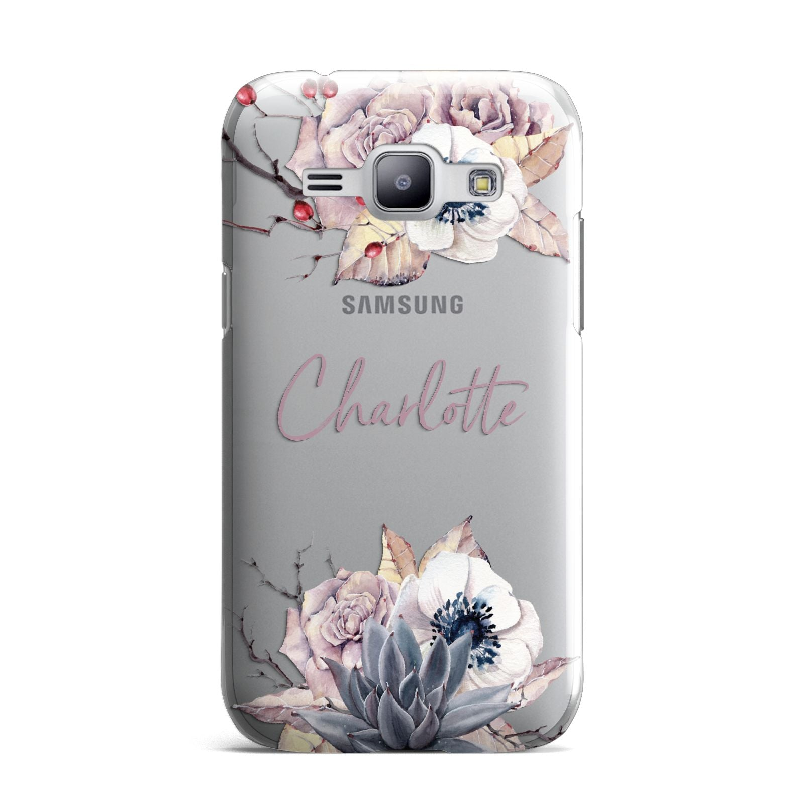 Personalised Autumn Floral Samsung Galaxy J1 2015 Case