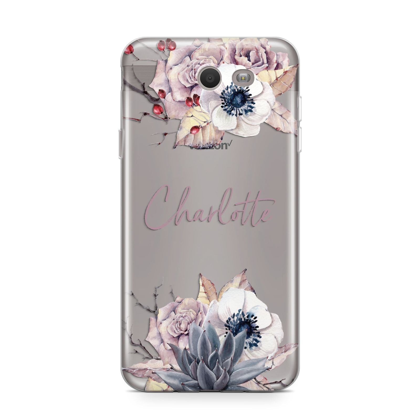 Personalised Autumn Floral Samsung Galaxy J7 2017 Case