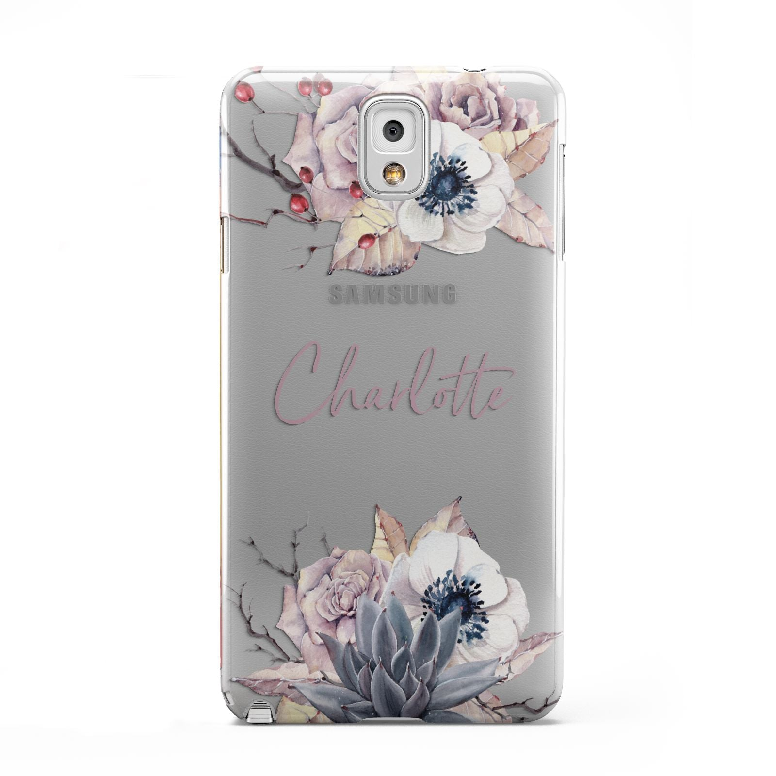 Personalised Autumn Floral Samsung Galaxy Note 3 Case