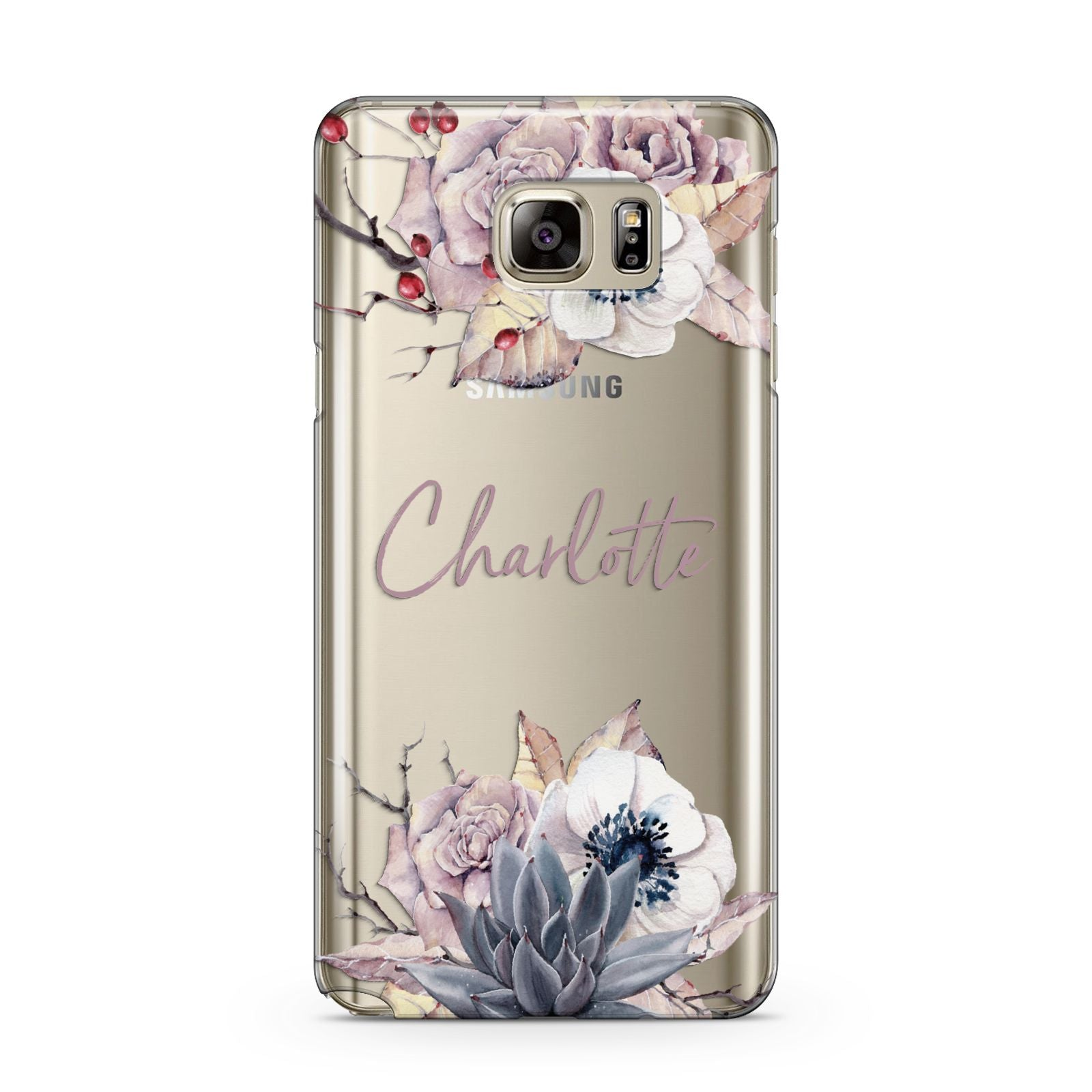 Personalised Autumn Floral Samsung Galaxy Note 5 Case