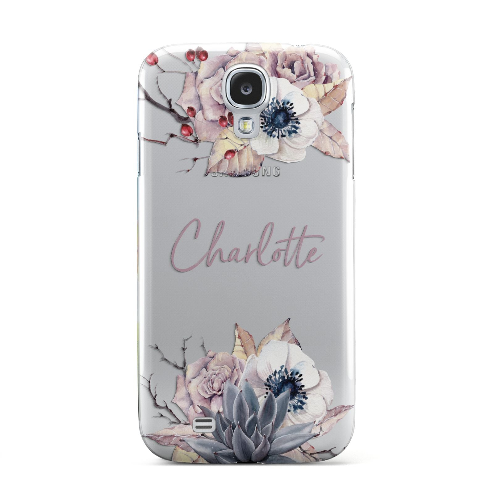 Personalised Autumn Floral Samsung Galaxy S4 Case
