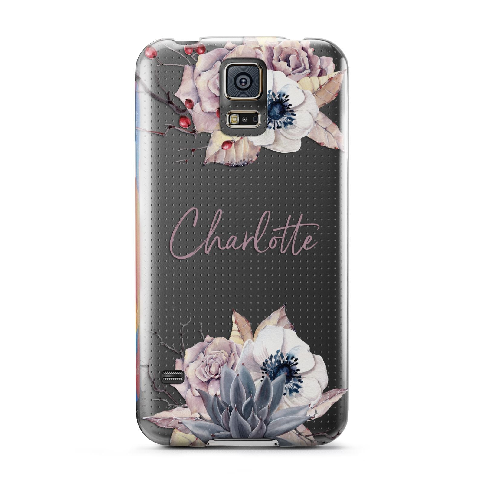 Personalised Autumn Floral Samsung Galaxy S5 Case