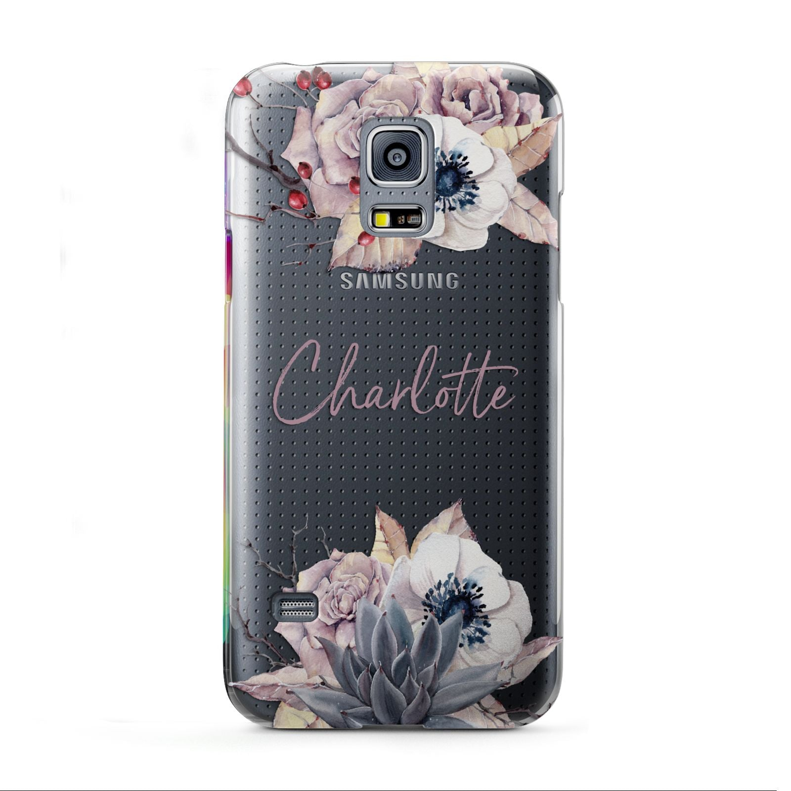 Personalised Autumn Floral Samsung Galaxy S5 Mini Case