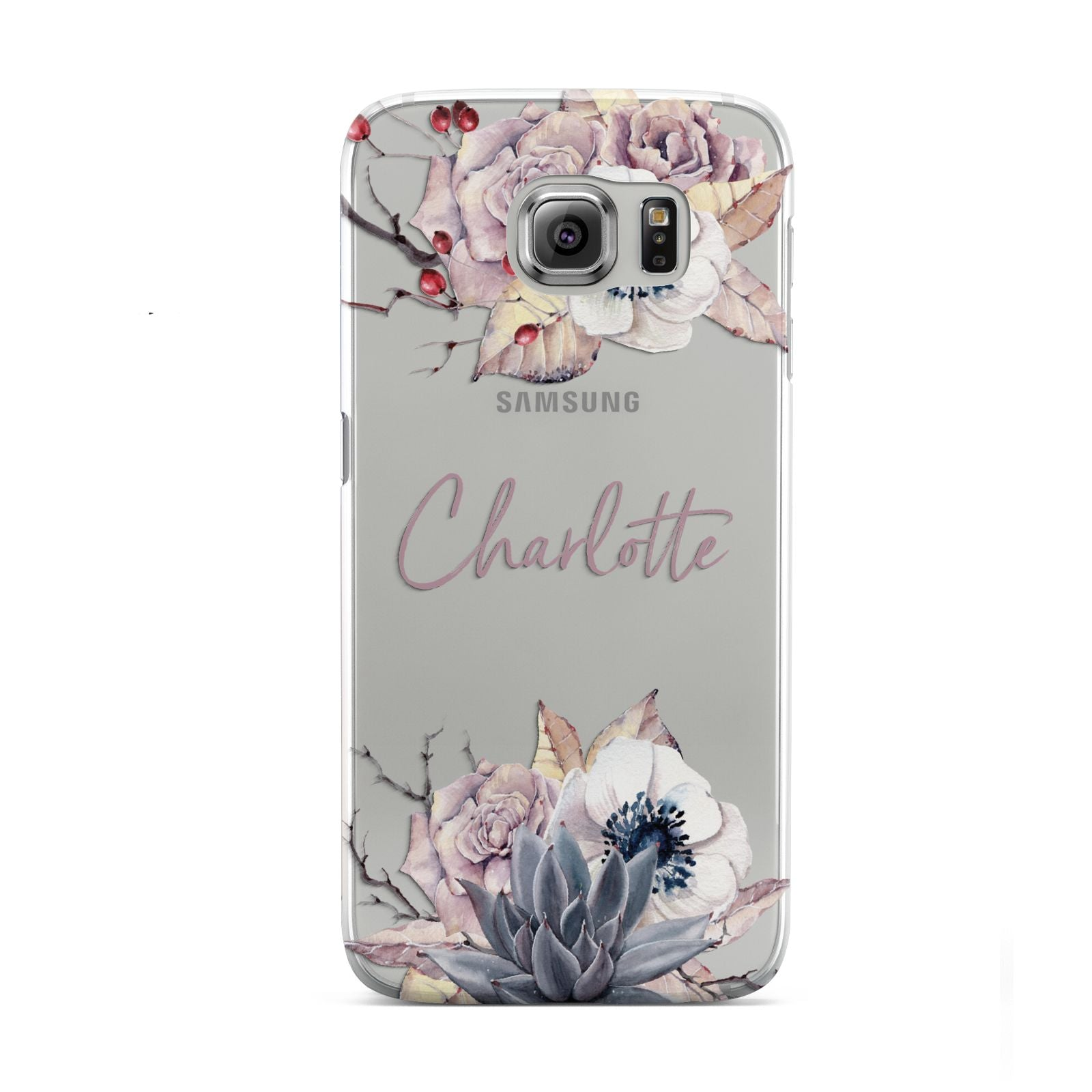 Personalised Autumn Floral Samsung Galaxy S6 Case