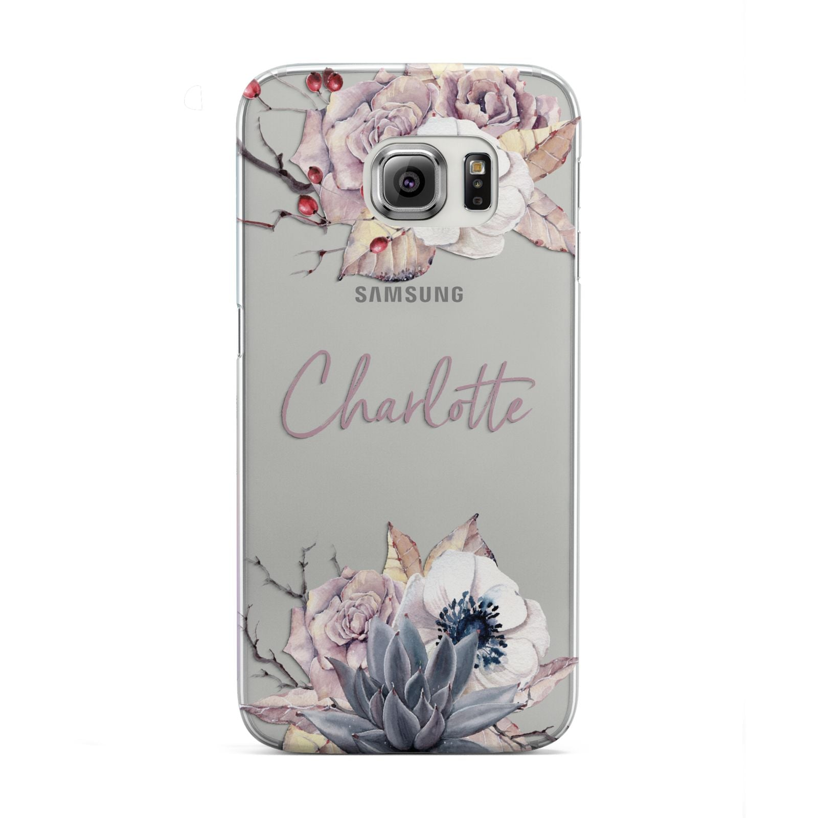 Personalised Autumn Floral Samsung Galaxy S6 Edge Case