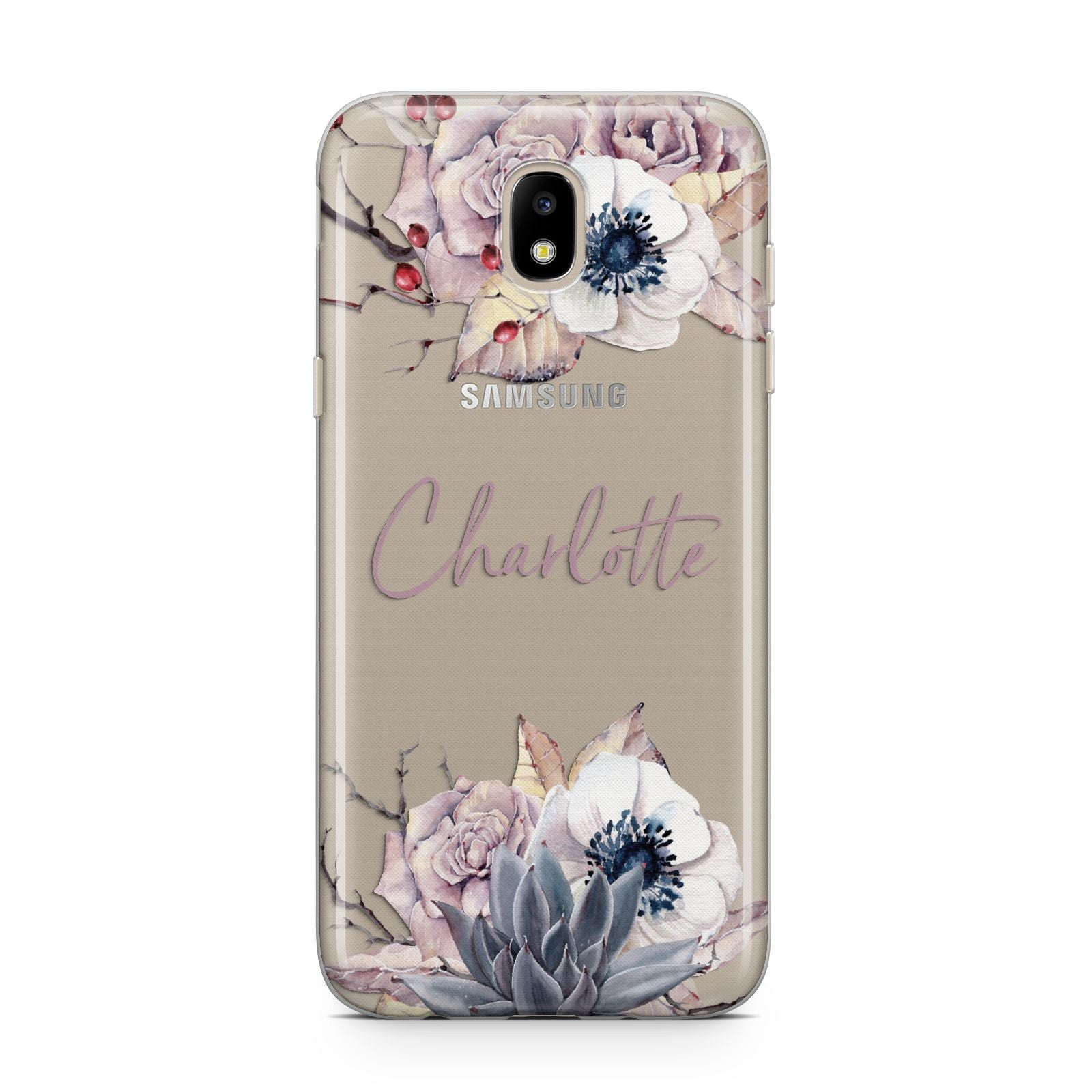 Personalised Autumn Floral Samsung J5 2017 Case