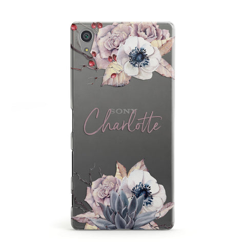 Personalised Autumn Floral Sony Case