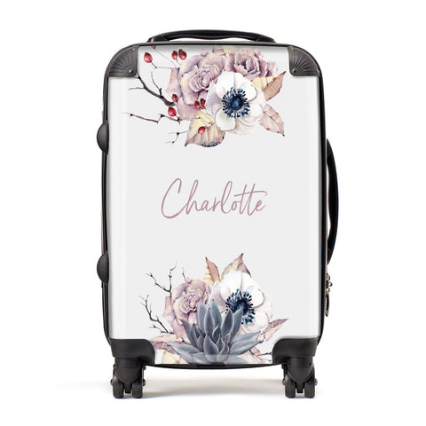 Personalised Autumn Floral Suitcase