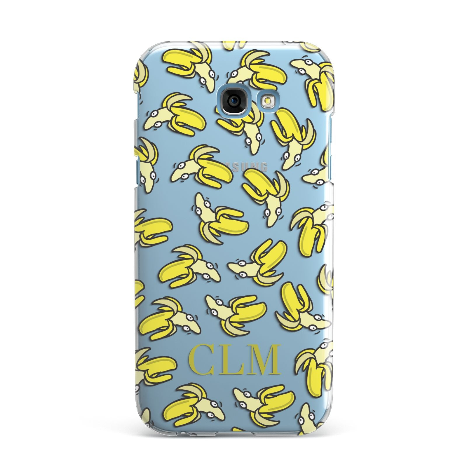 Personalised Banana Initials Clear Samsung Galaxy A7 2017 Case