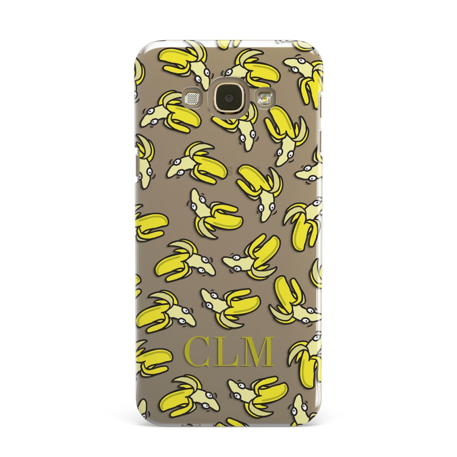 Personalised Banana Initials Clear Samsung Galaxy A8 Case