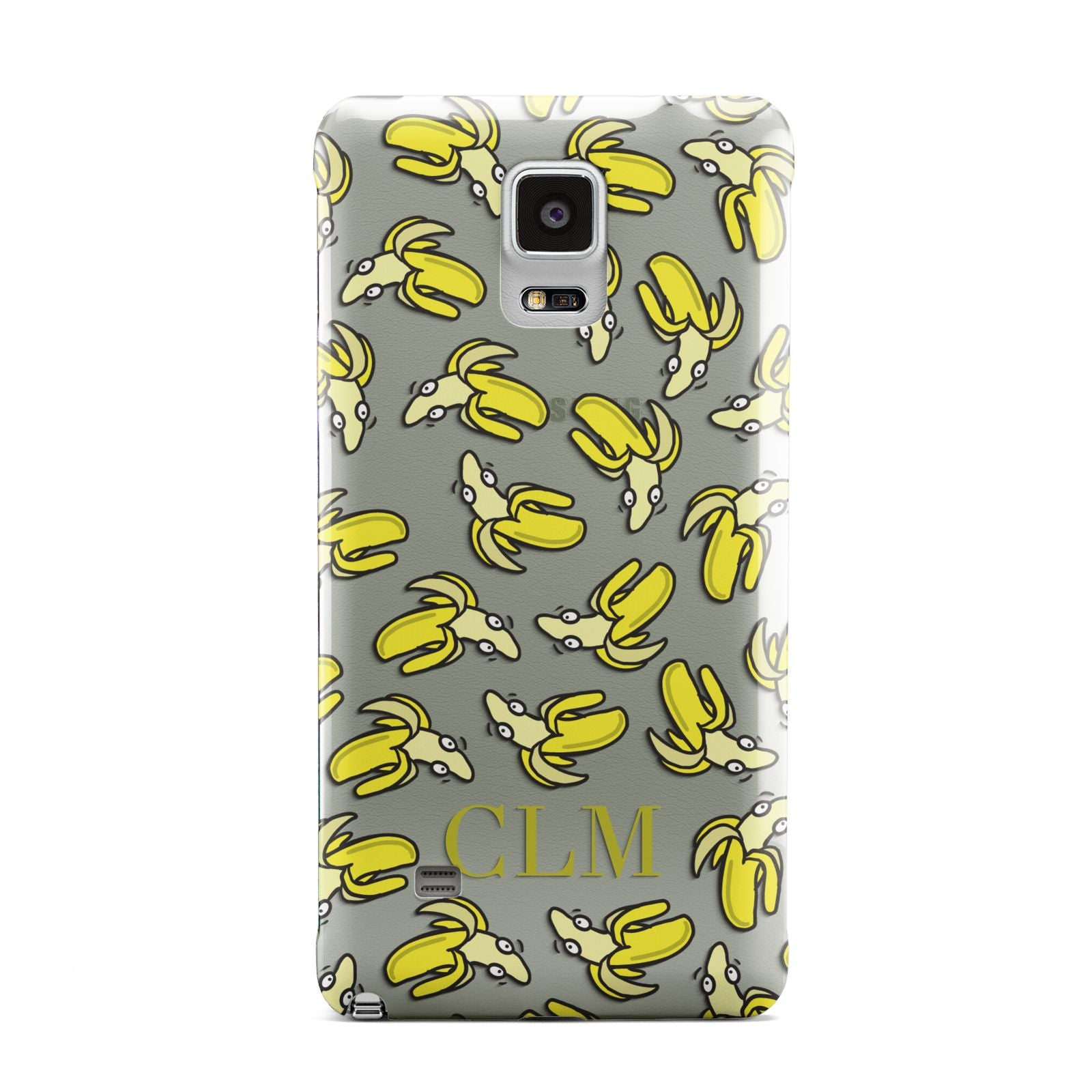 Personalised Banana Initials Clear Samsung Galaxy Note 4 Case