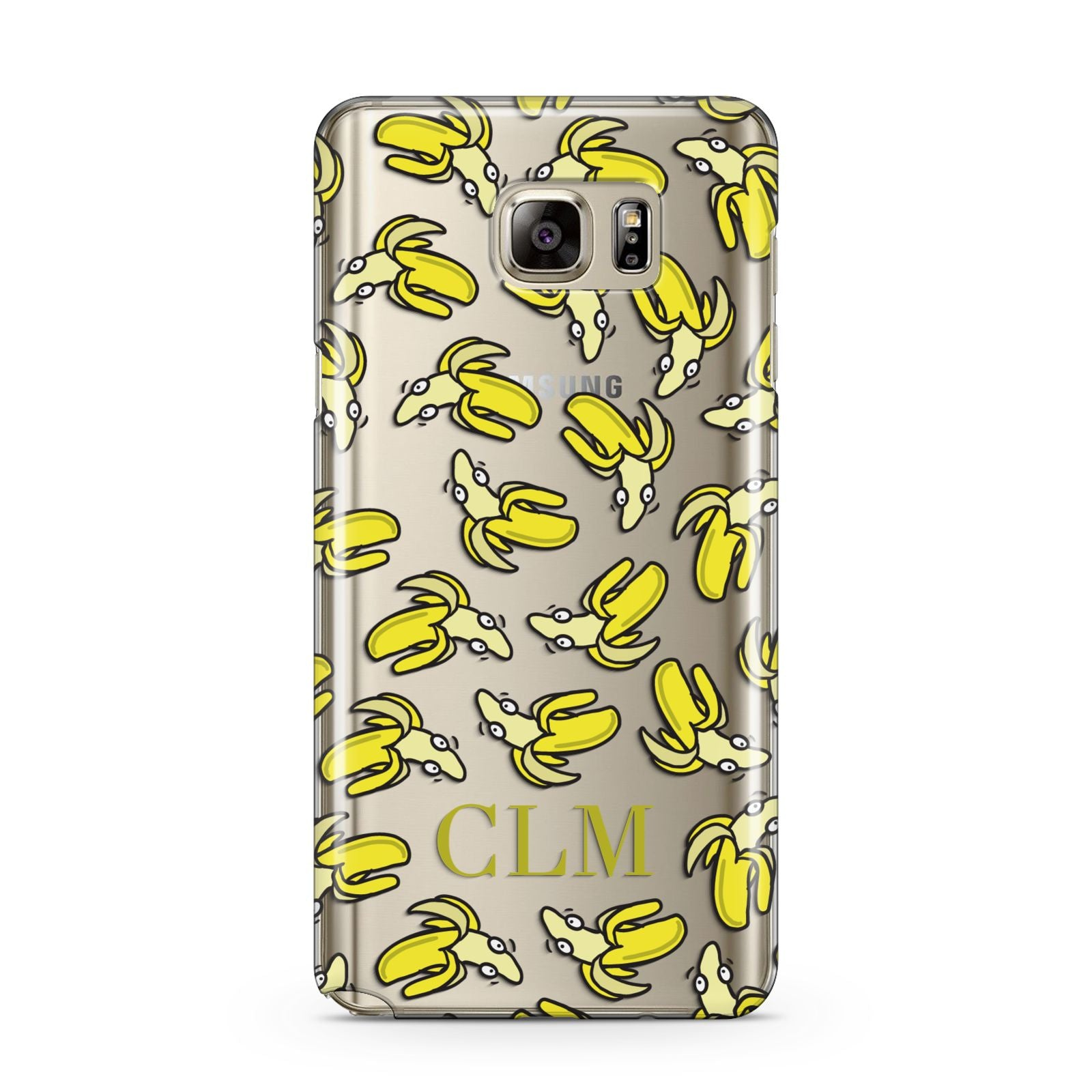 Personalised Banana Initials Clear Samsung Galaxy Note 5 Case
