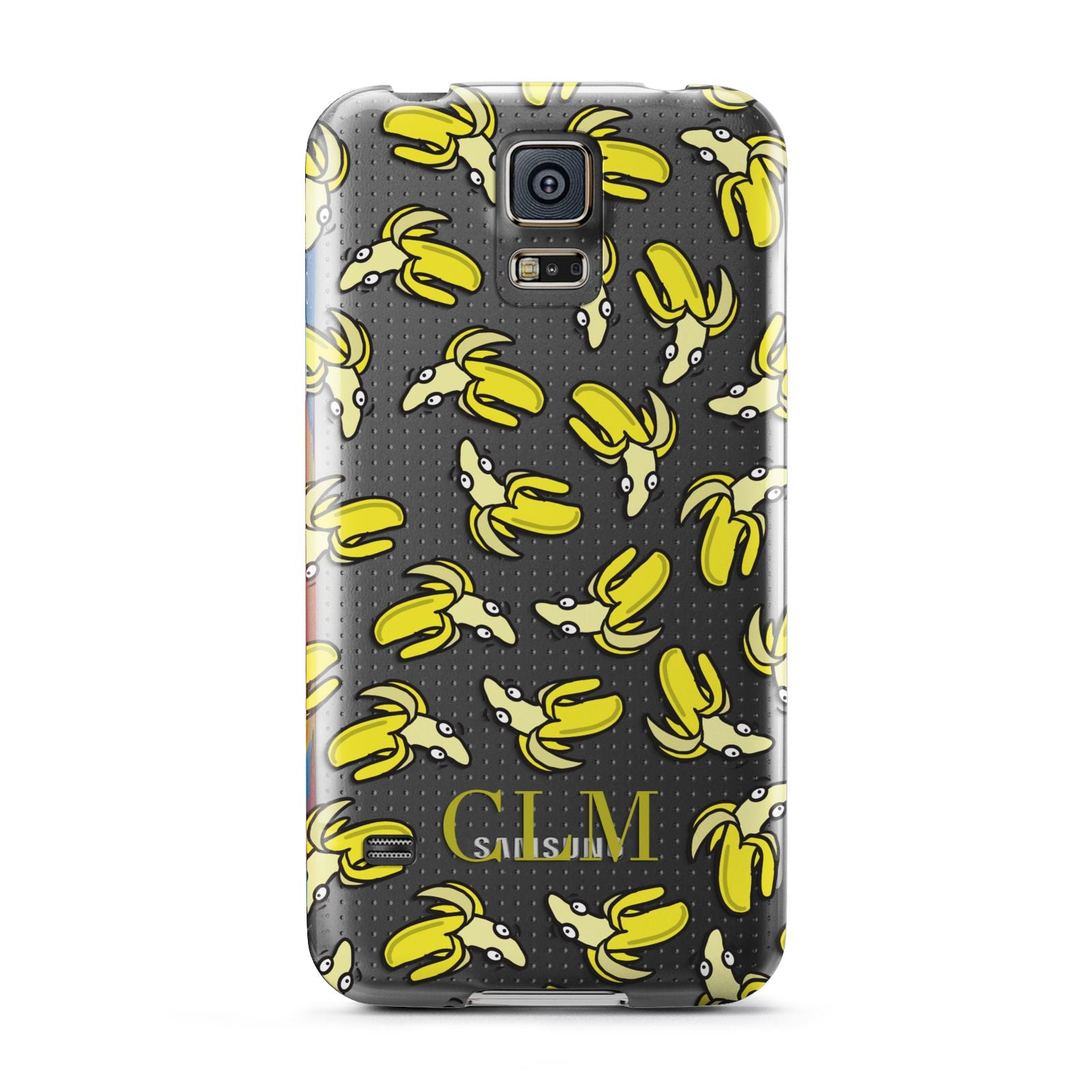 Personalised Banana Initials Clear Samsung Galaxy S5 Case