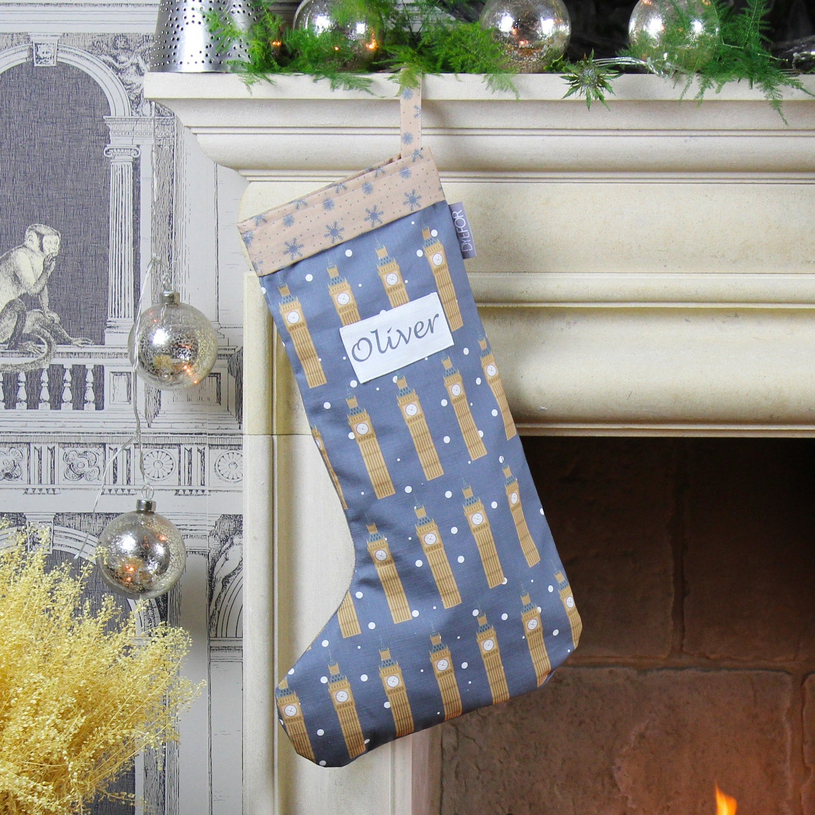 Personalised Christmas Big Ben Stocking
