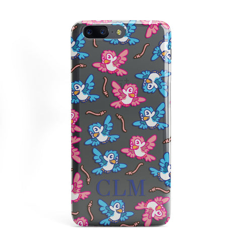 Personalised Birds Initials Clear OnePlus Case