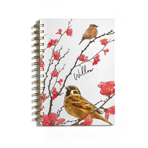 Personalised Birds Notebook