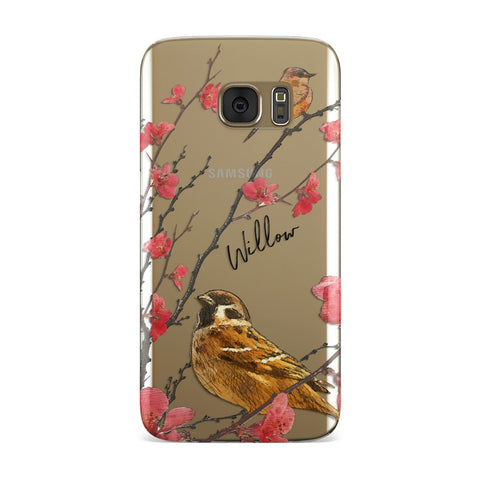 Personalised Birds Samsung Galaxy Case