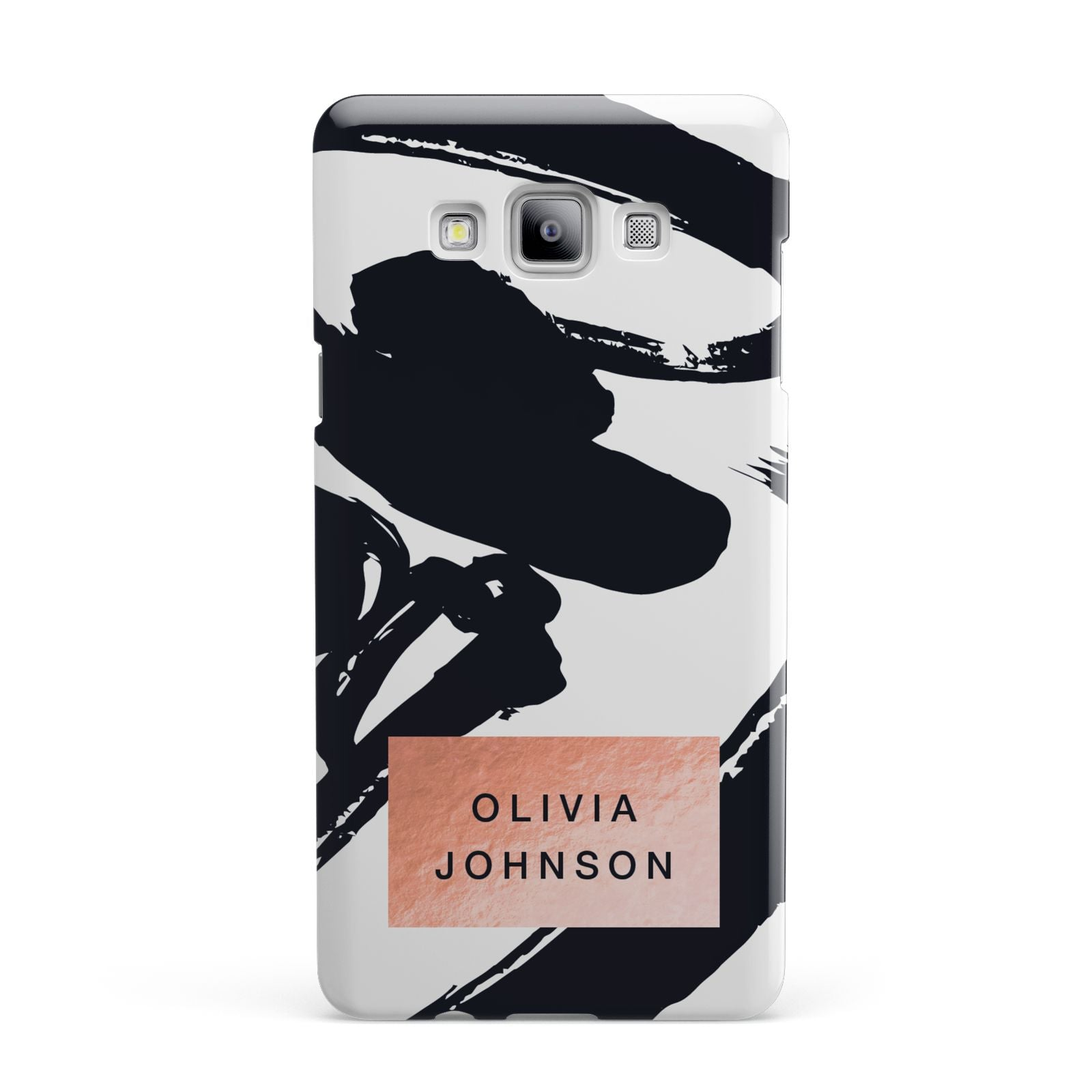 Personalised Black Brushes With Name Samsung Galaxy A7 2015 Case