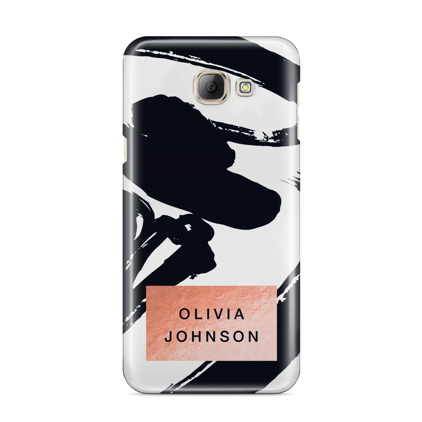 Personalised Black Brushes With Name Samsung Galaxy A8 2016 Case
