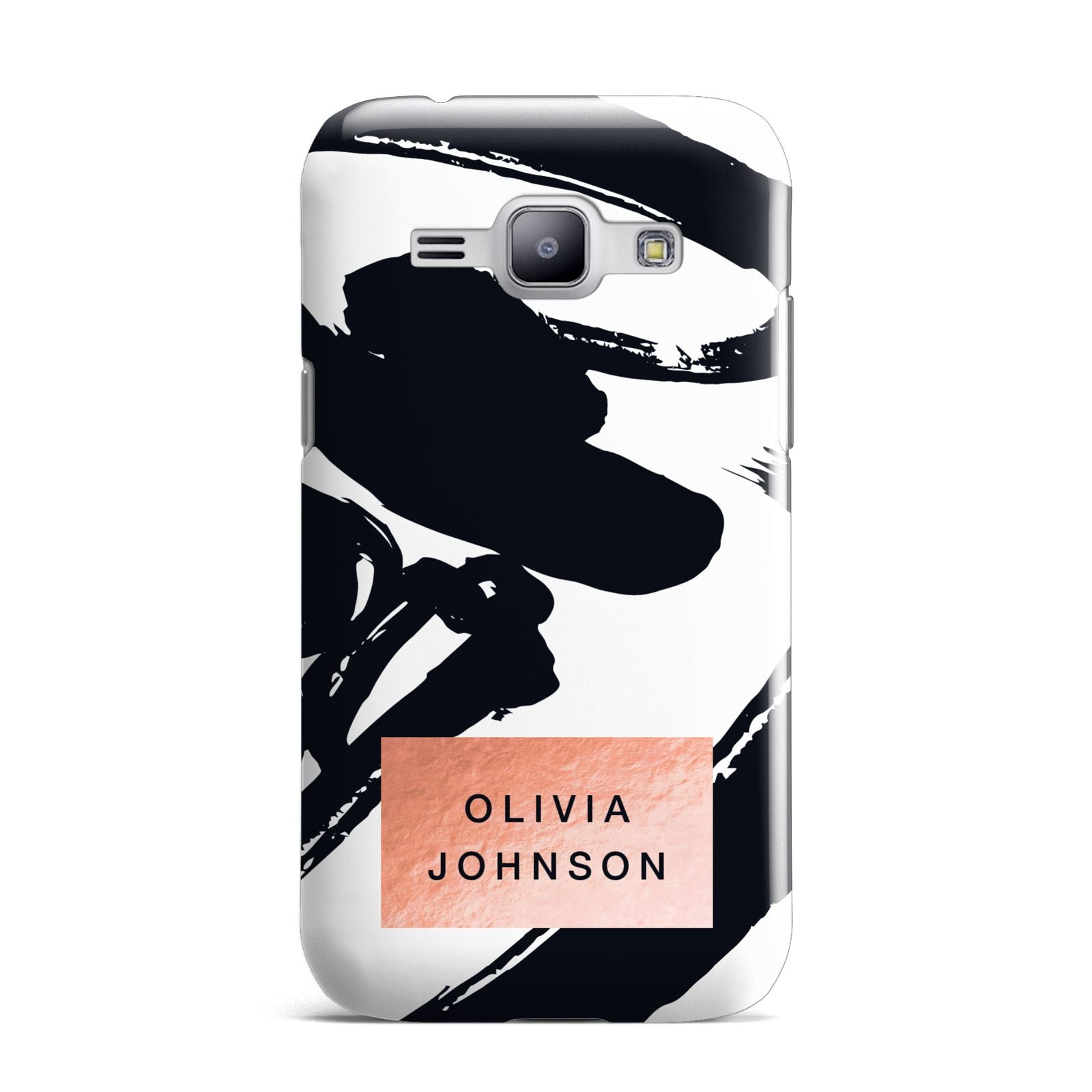 Personalised Black Brushes With Name Samsung Galaxy J1 2015 Case