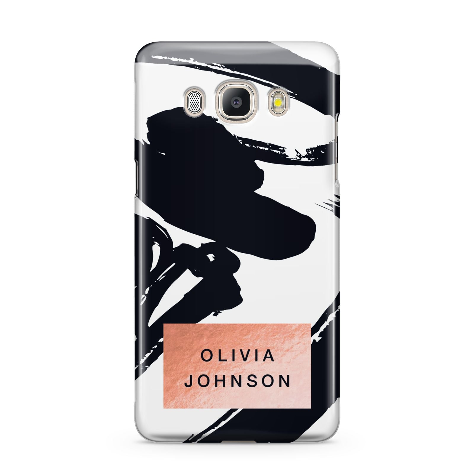 Personalised Black Brushes With Name Samsung Galaxy J5 2016 Case