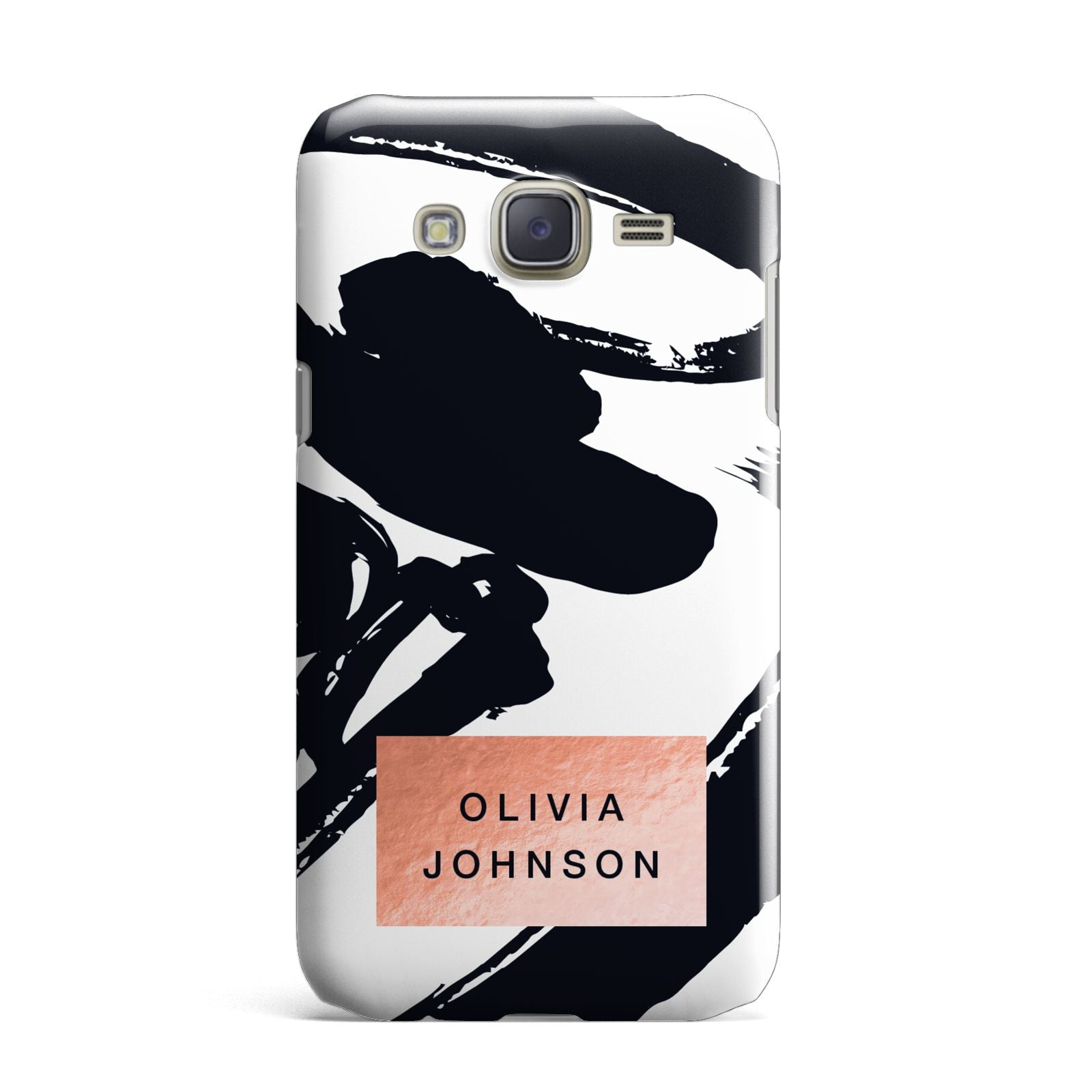 Personalised Black Brushes With Name Samsung Galaxy J7 Case
