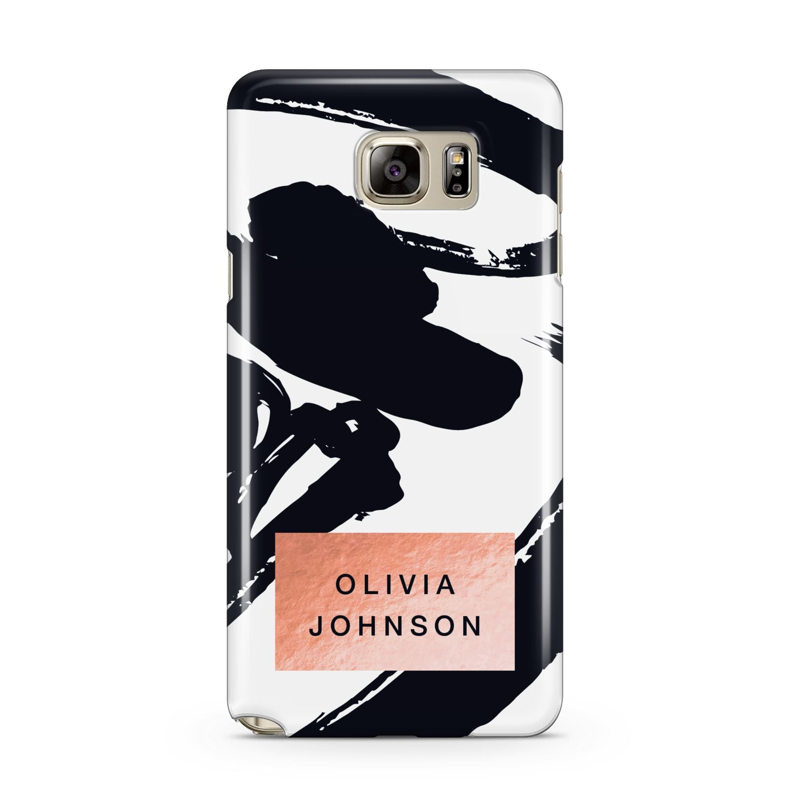 Personalised Black Brushes With Name Samsung Galaxy Note 5 Case