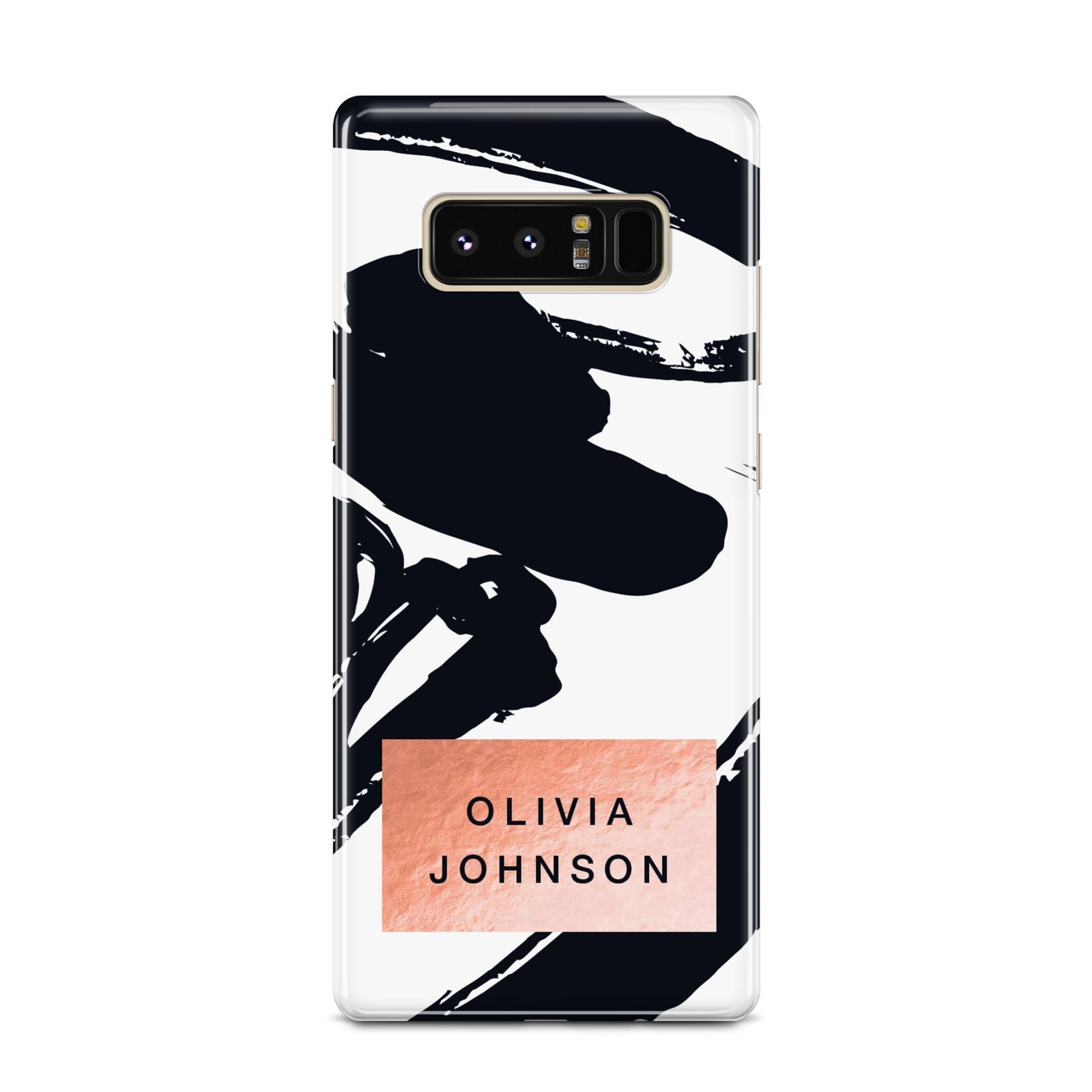 Personalised Black Brushes With Name Samsung Galaxy Note 8 Case