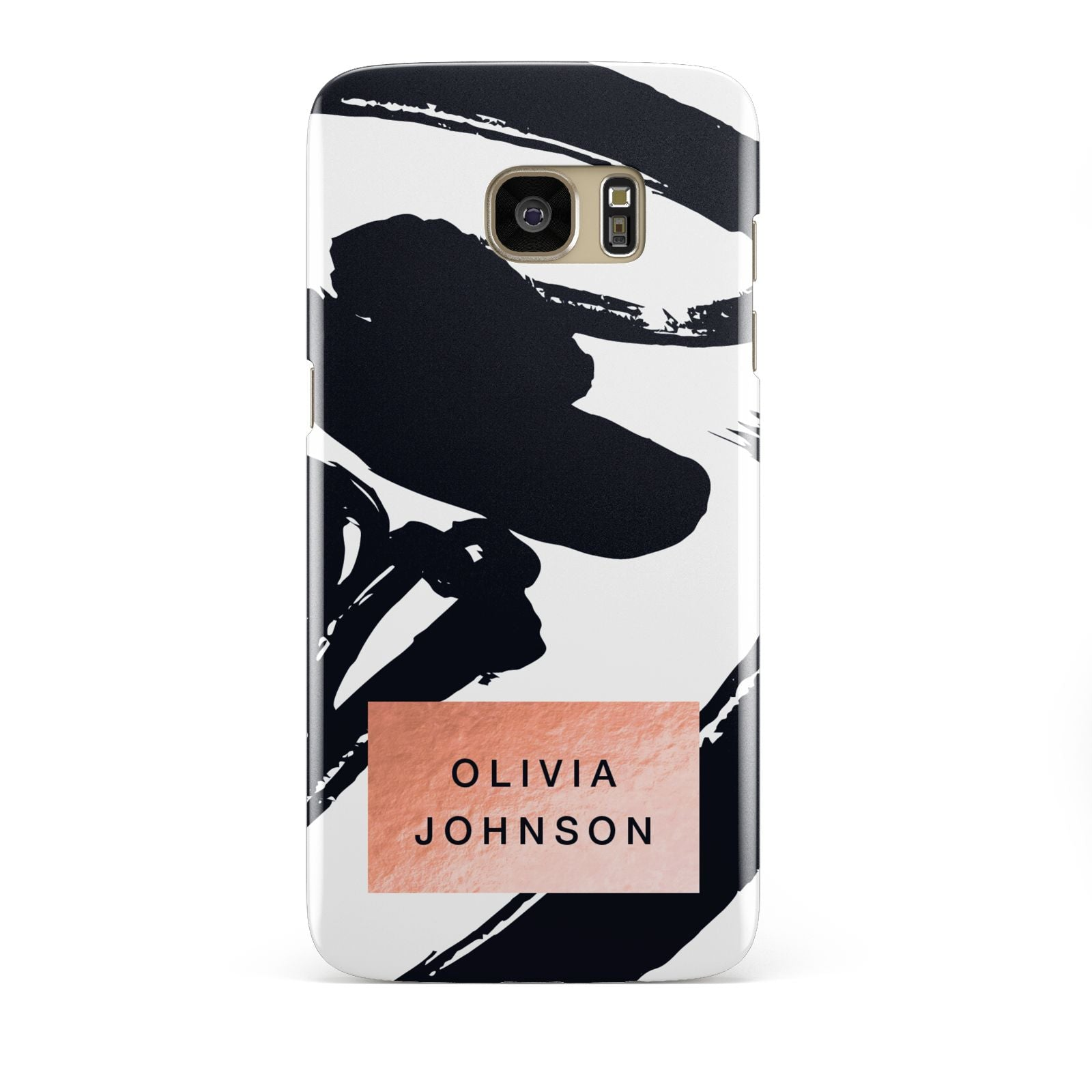 Personalised Black Brushes With Name Samsung Galaxy S7 Edge Case