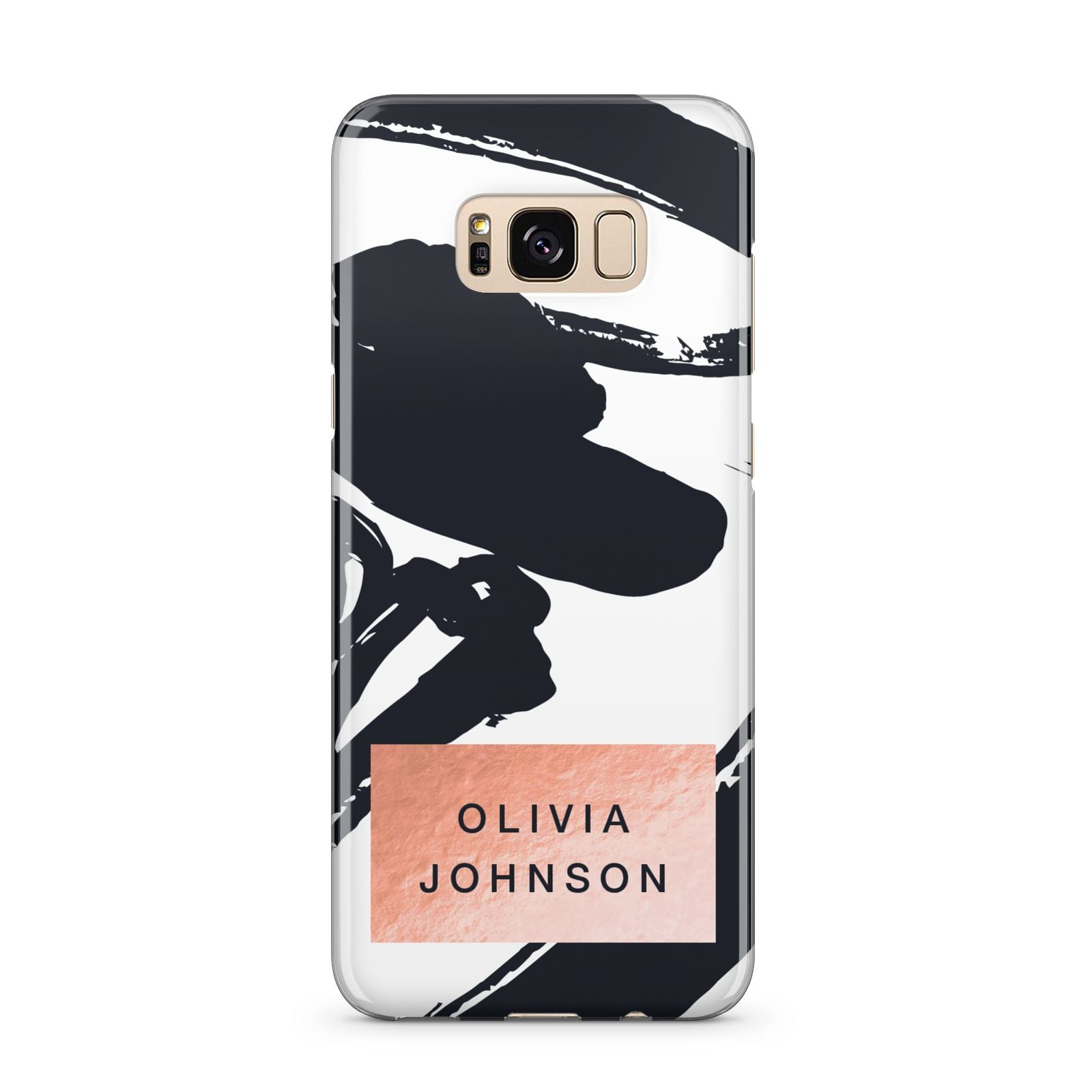 Personalised Black Brushes With Name Samsung Galaxy S8 Plus Case