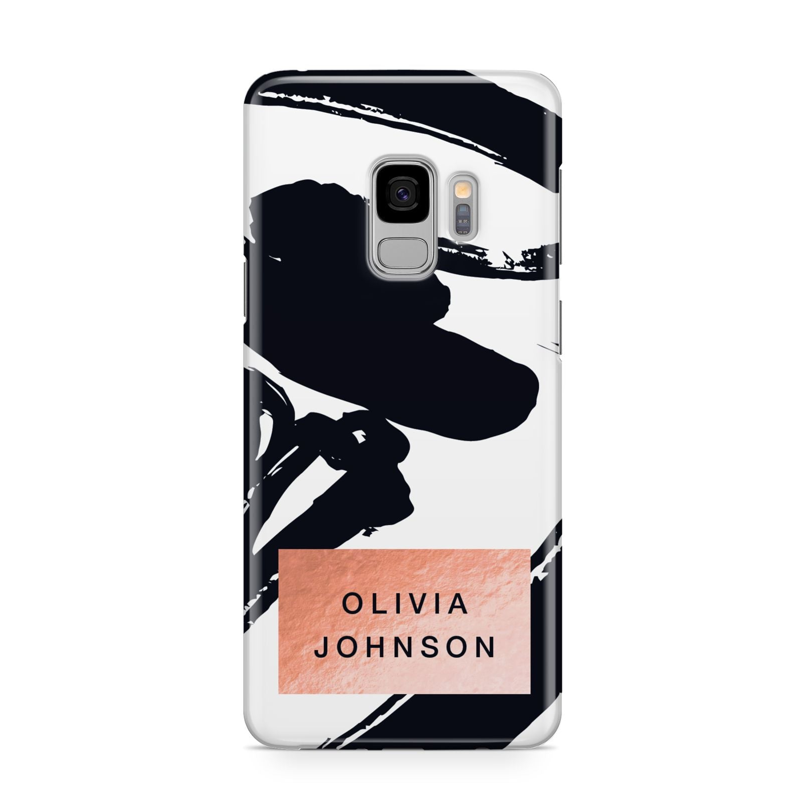 Personalised Black Brushes With Name Samsung Galaxy S9 Case