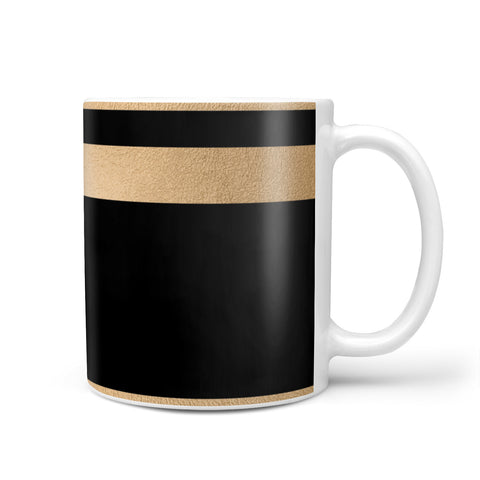 Personalised Black & Gold Monogram Initial Mug