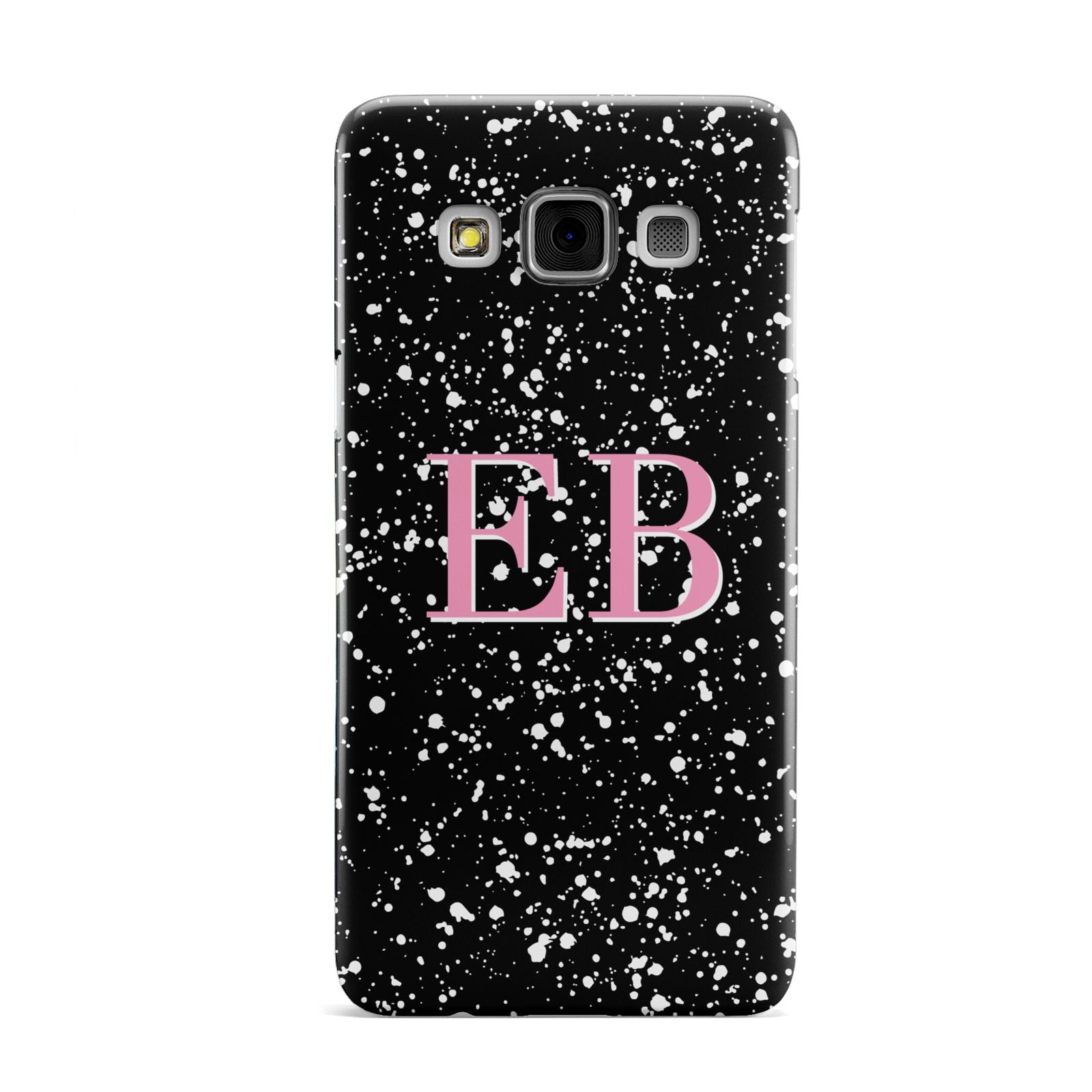 Personalised Black Ink Splat Initials Samsung Galaxy A3 Case