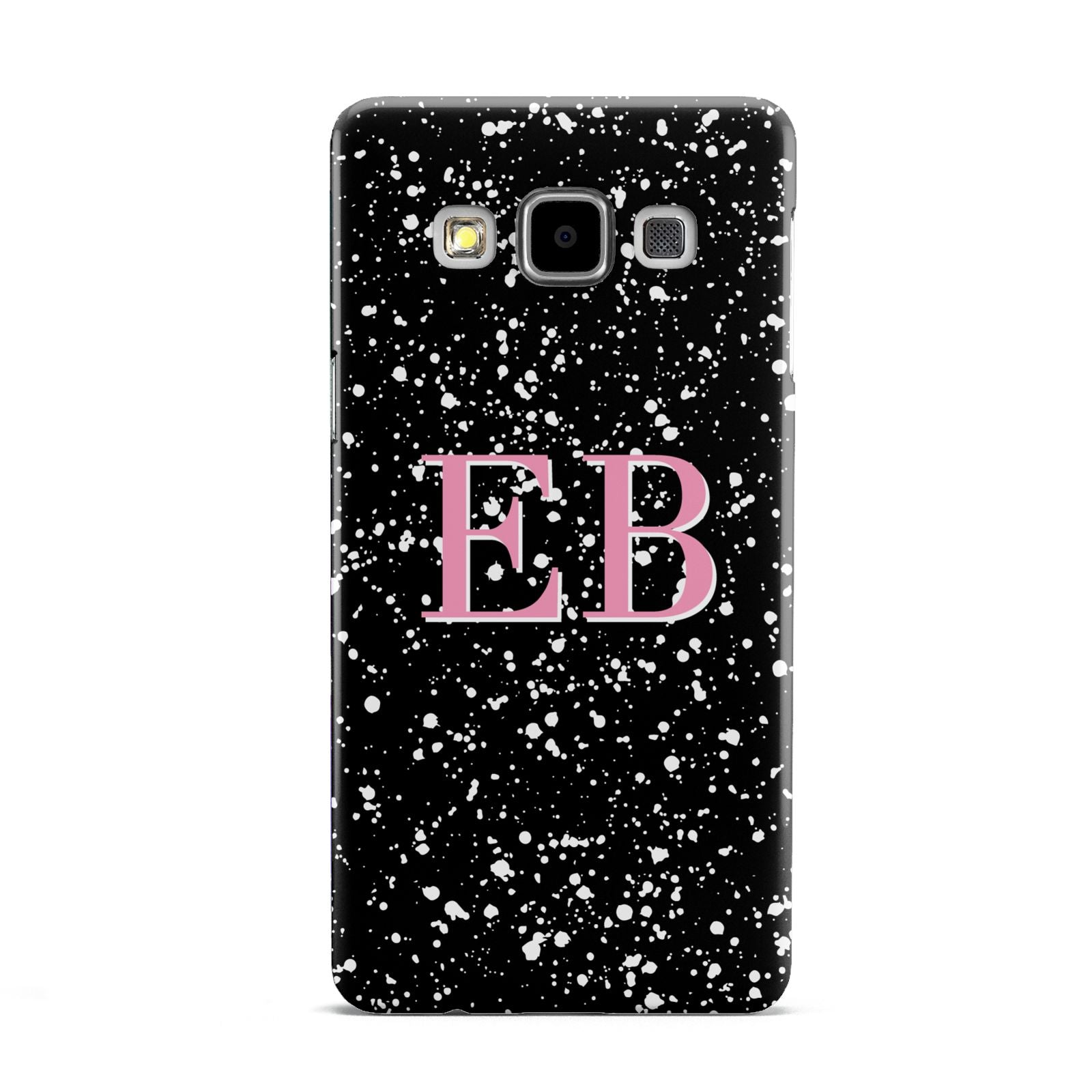 Personalised Black Ink Splat Initials Samsung Galaxy A5 Case