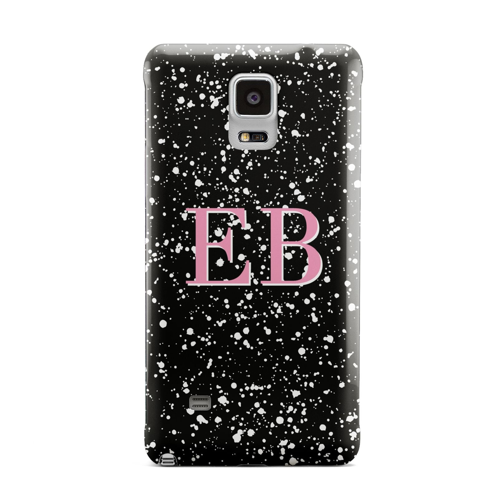 Personalised Black Ink Splat Initials Samsung Galaxy Note 4 Case