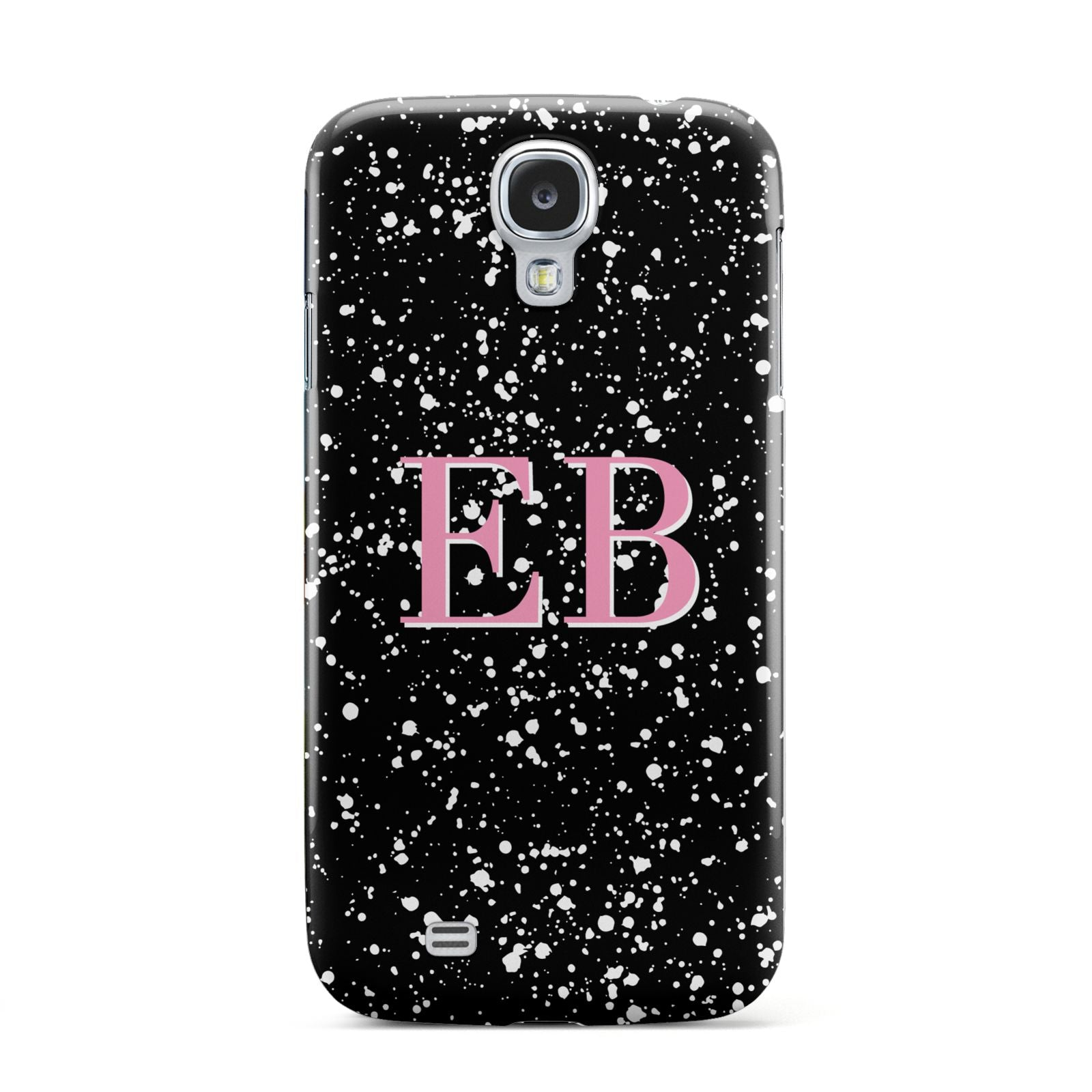 Personalised Black Ink Splat Initials Samsung Galaxy S4 Case