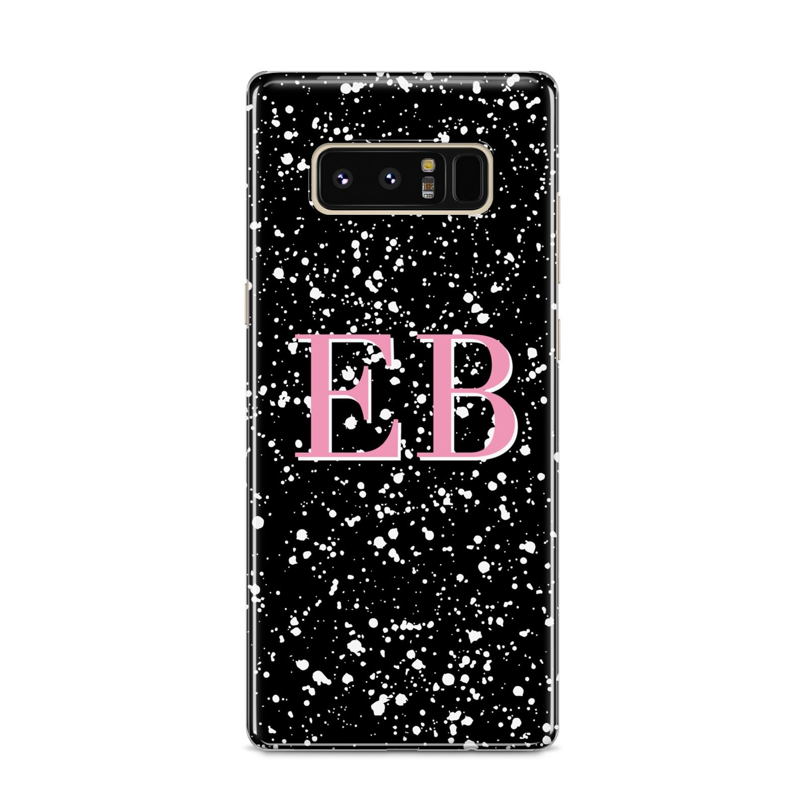 Personalised Black Ink Splat Initials Samsung Galaxy S8 Case